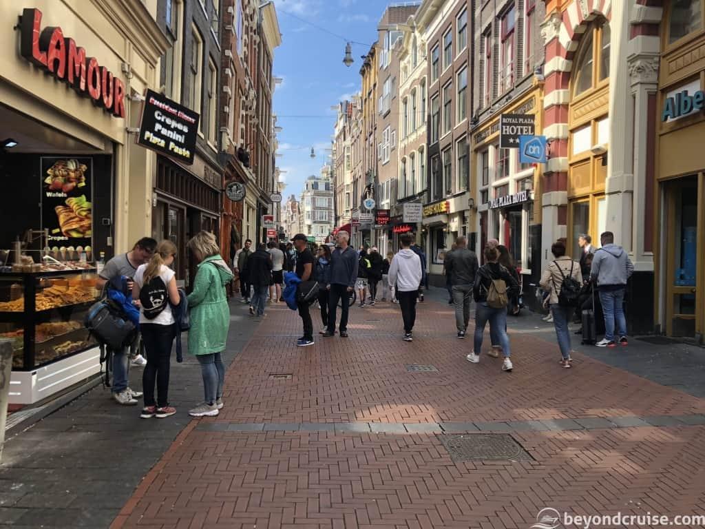 Amsterdam typical tourist street
