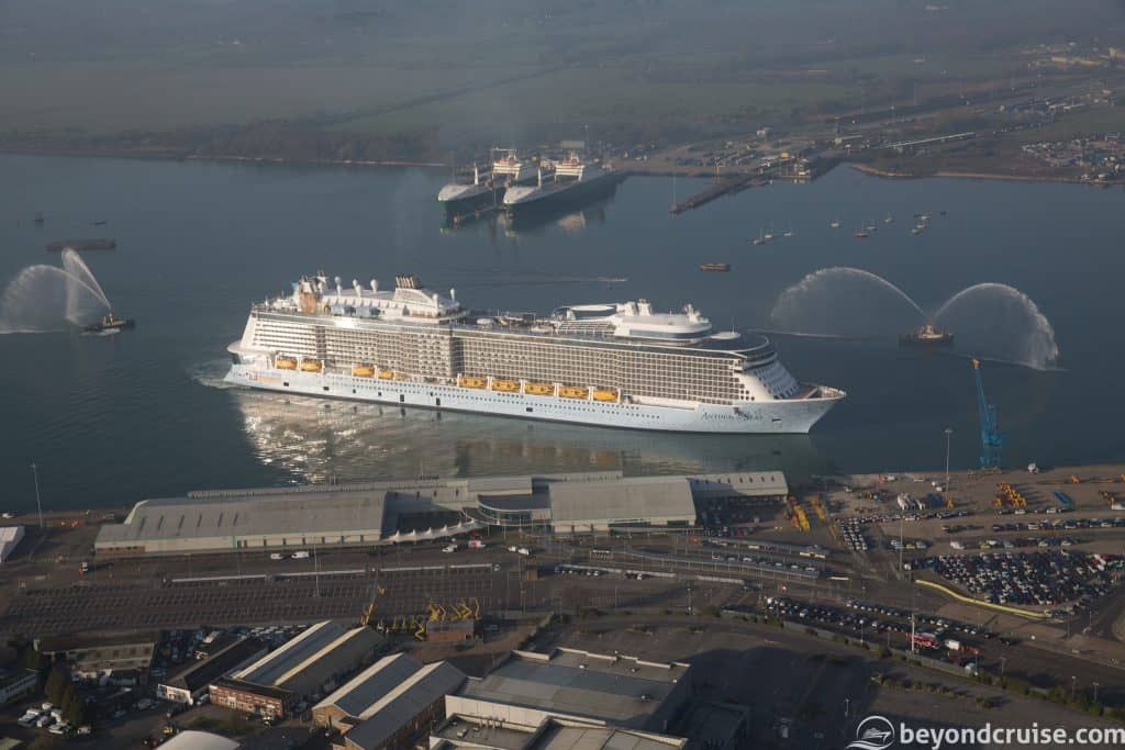 Anthem of the Seas arrives into Southampton after her shakedown voyage