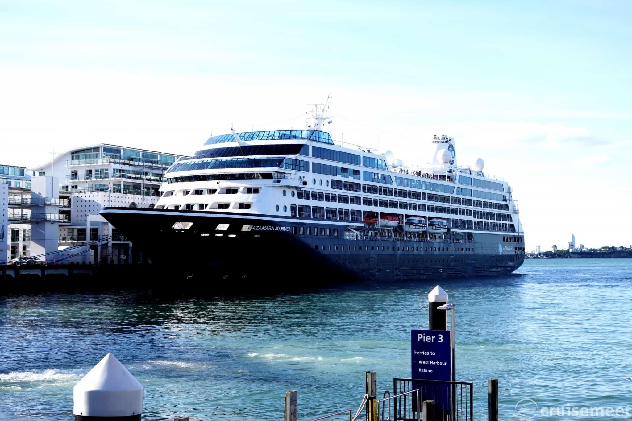 Azamara Journey at Princes Wharf, Auckland
