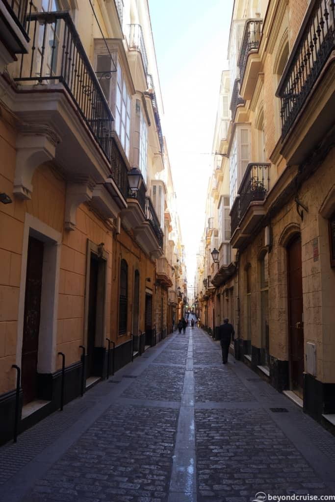 Typical street in Cadiz