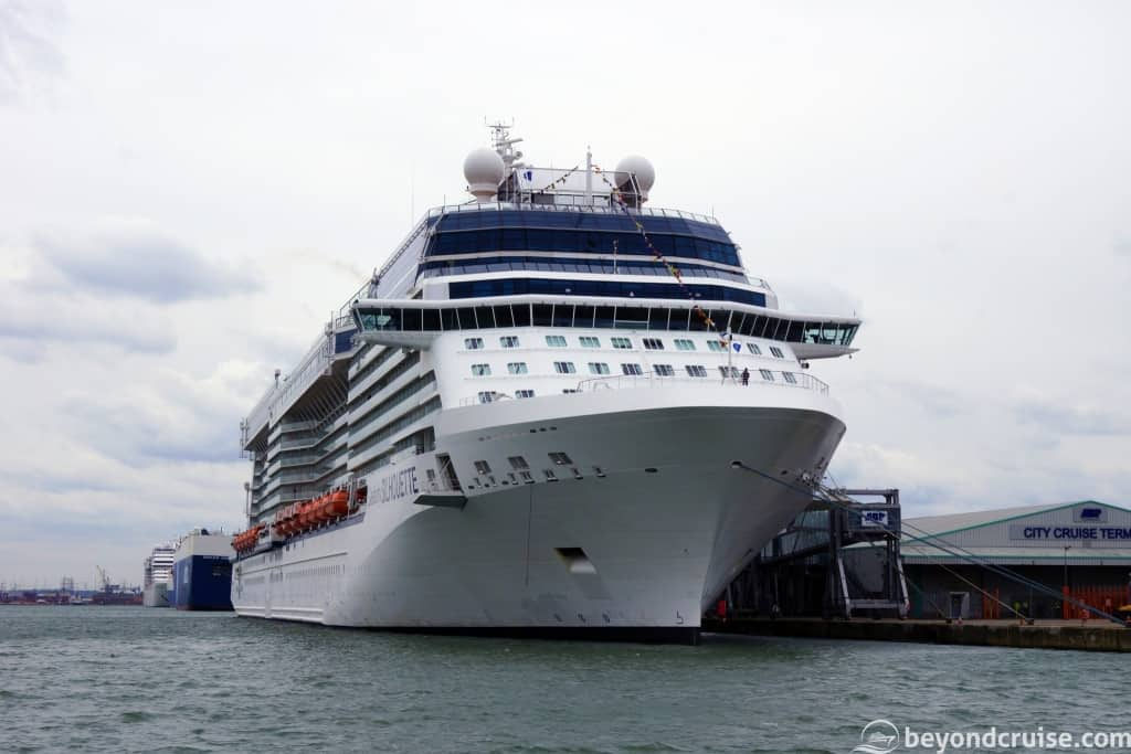 Celebrity Silhouette in Southampton from Mayflower Park