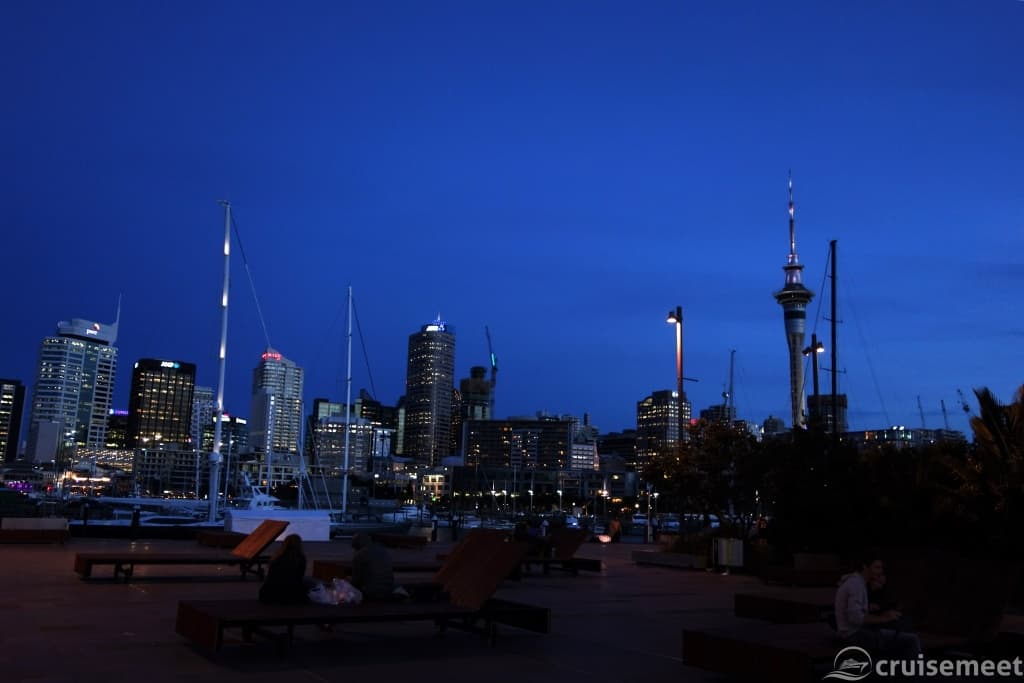 Central Business District at dusk, Auckland, New Zealand