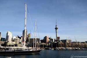 Central Business District in the summer, Auckland, New Zealand