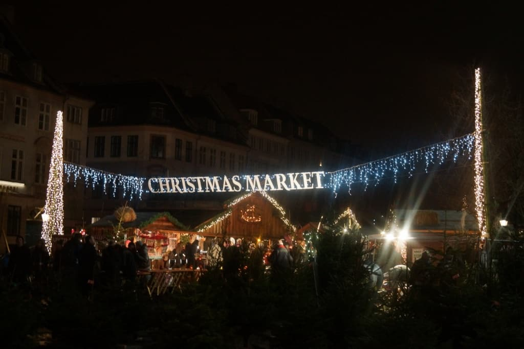 A city Christmas market