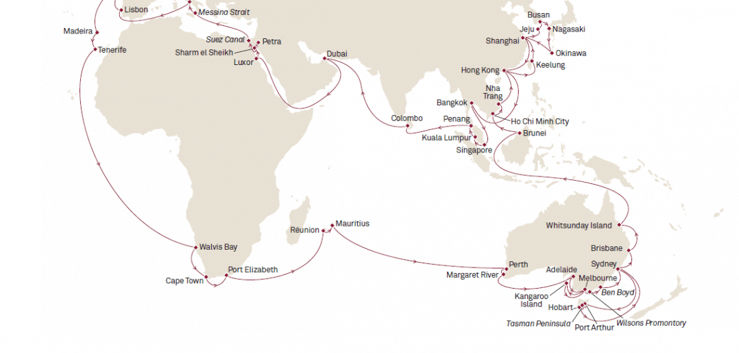 Cunard World Voyage 2017 - Queen Mary 2