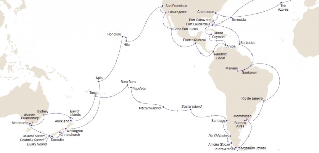 Cunard World Voyage 2017 - Queen Victoria