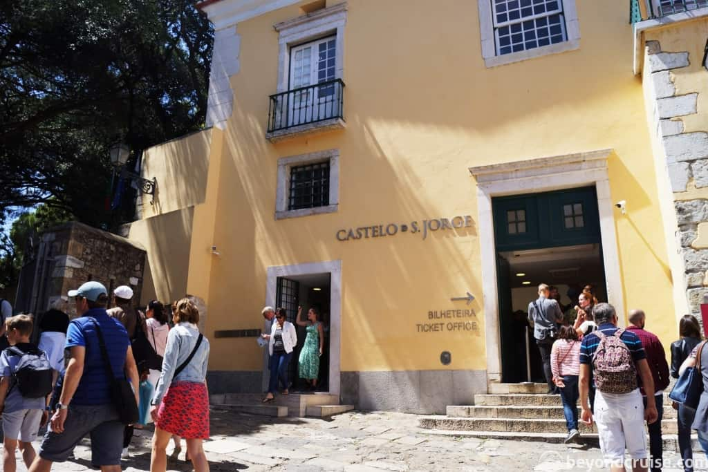 Lisbon Castelo de Sao Jorge entrance