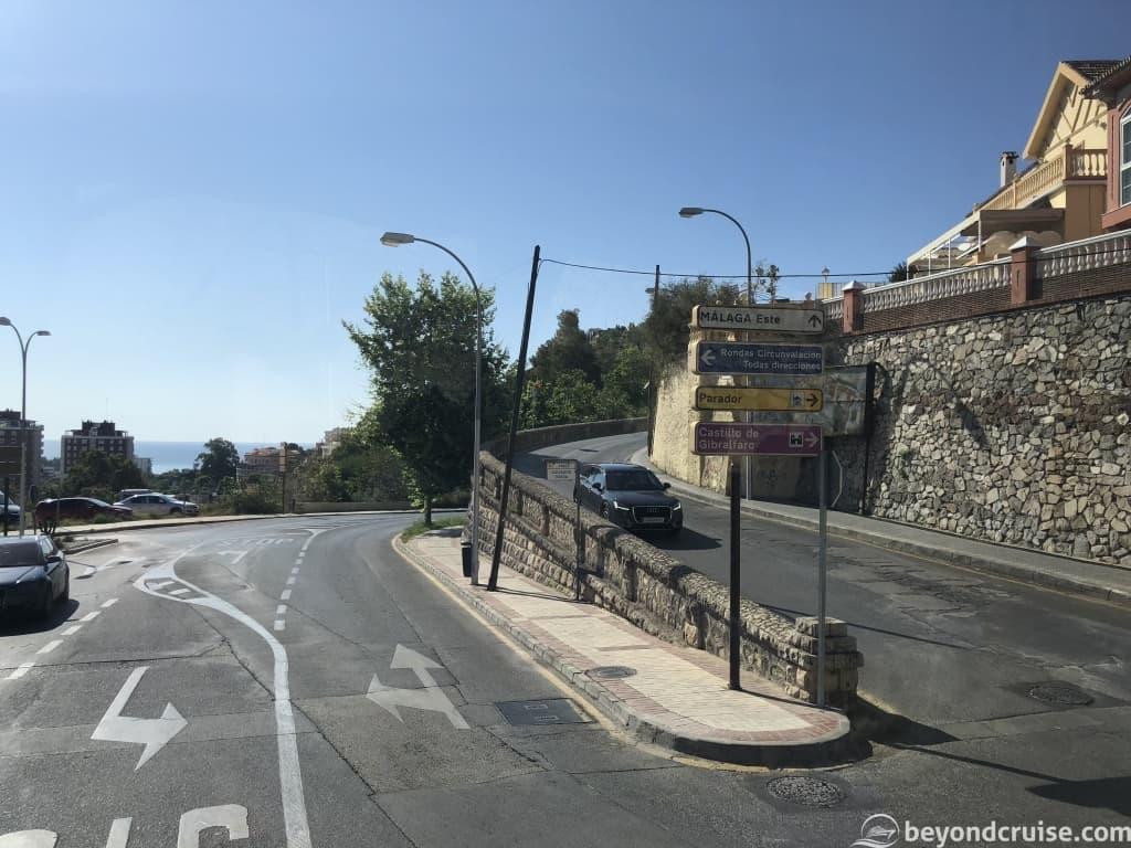 Malaga winding streets