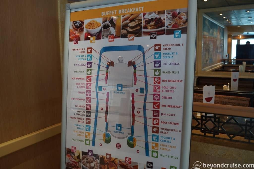 MSC Magnifica Buffet – breakfast layout