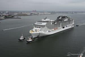 MSC Grandiosa sea trials August 2019