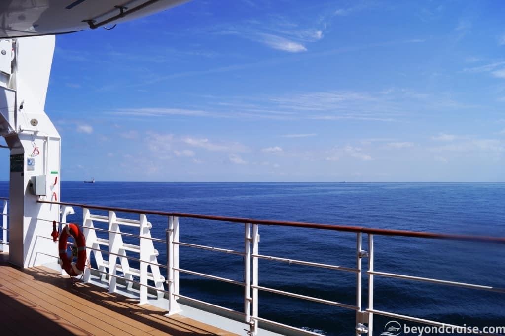 MSC Magnifica Deck 6 sea day view