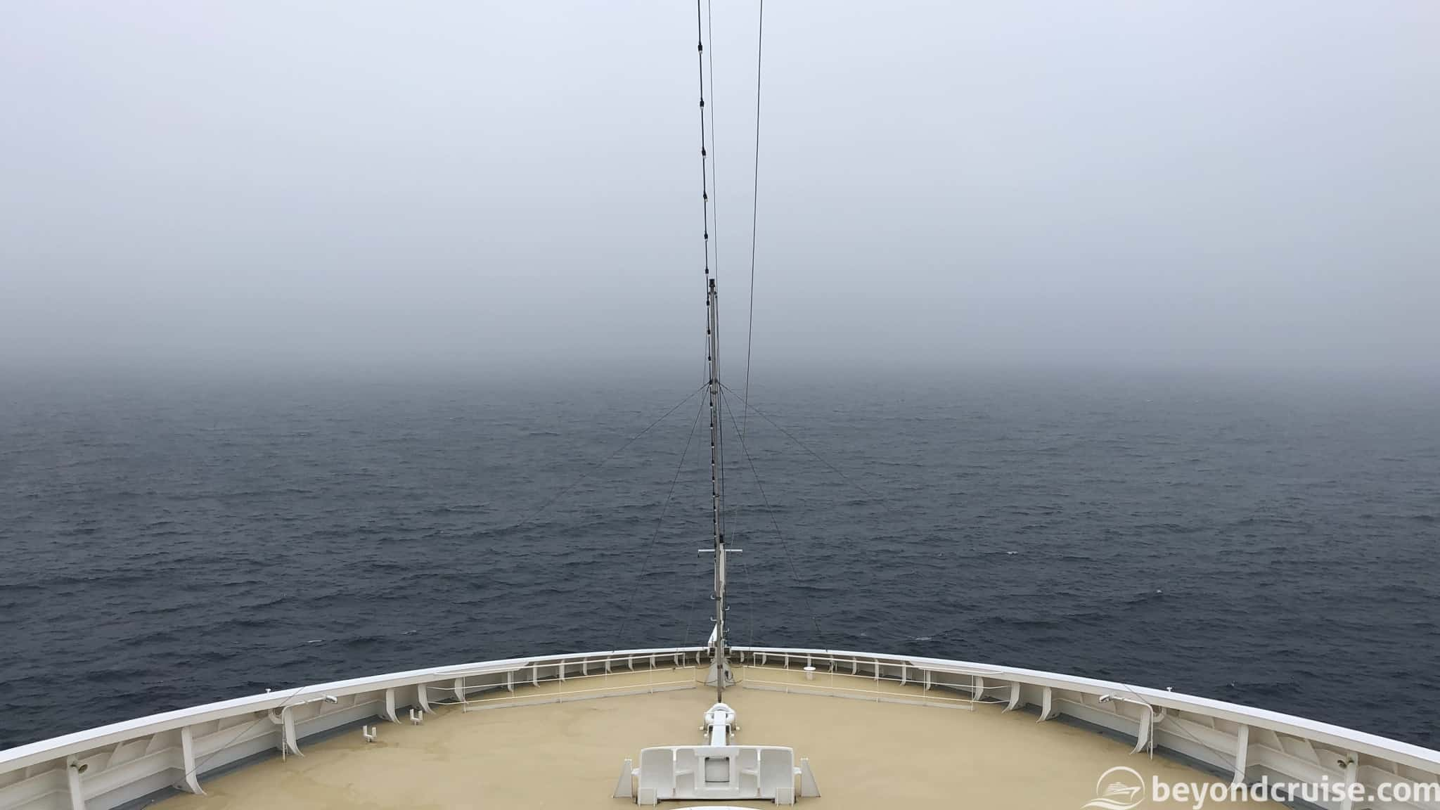 MSC Magnifica in a foggy Atlantic Ocean