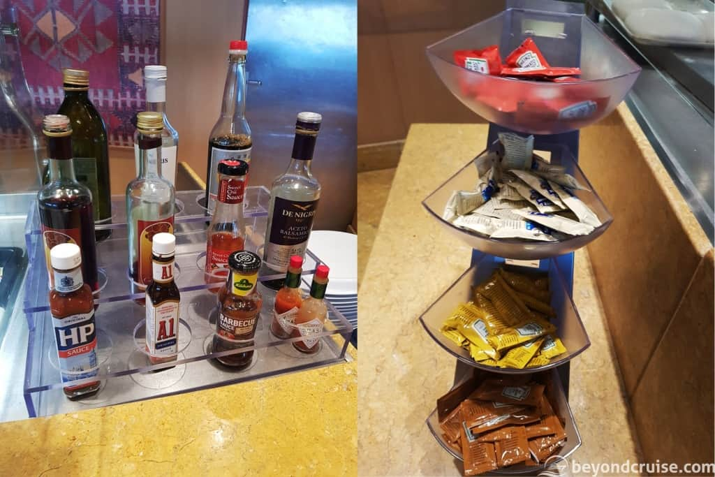MSC Magnifica buffet condiments