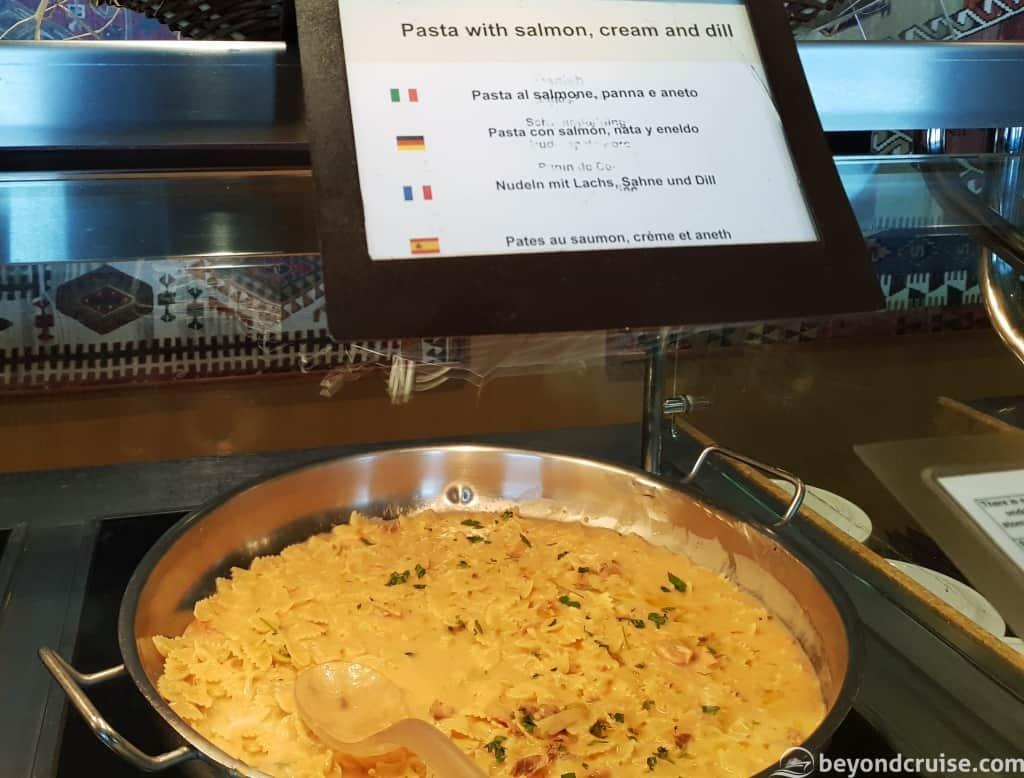 MSC Magnifica Pasta dish selection
