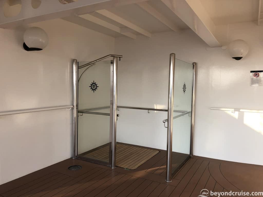 MSC Magnifica Outdoor shower on Deck 15