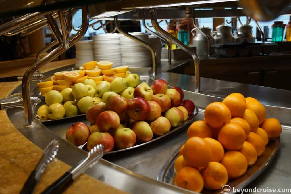 Fresh fruit at the Sahara Buffet on MSC Magnifica
