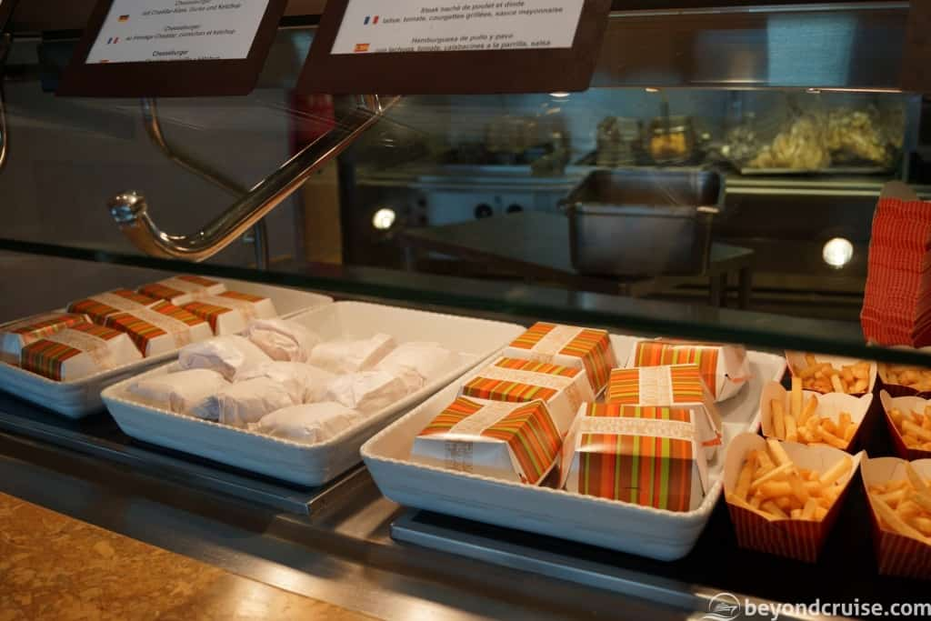MSC Magnifica lunch-specific items
