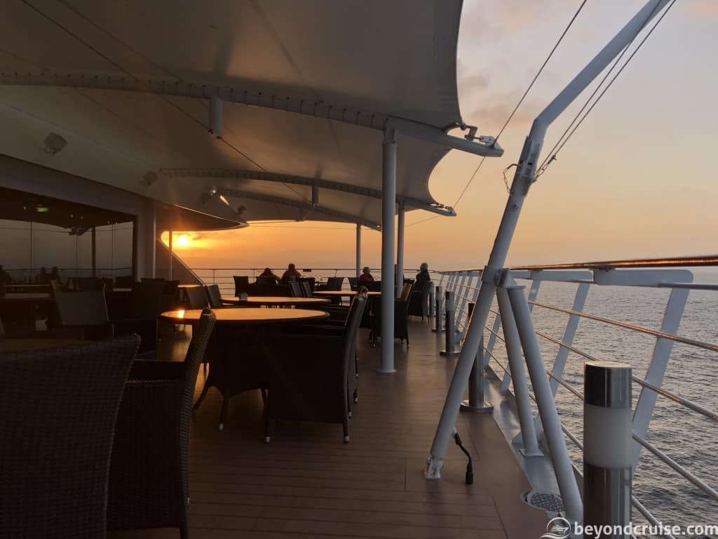 MSC Magnifica Rear terrace on Deck 13