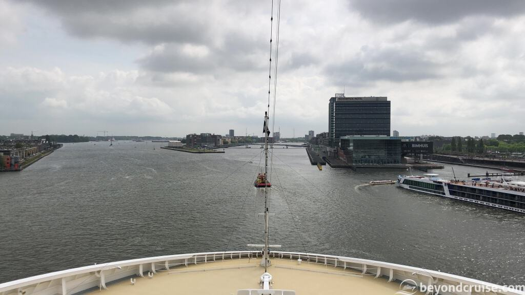 MSC Magnifica sailing on the North Sea Canal