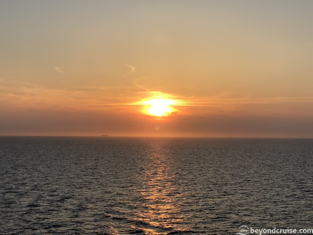 MSC Magnifica sunset at sea