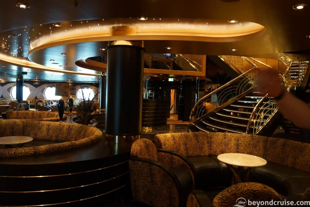 MSC Magnifica Tiger Bar and staircase
