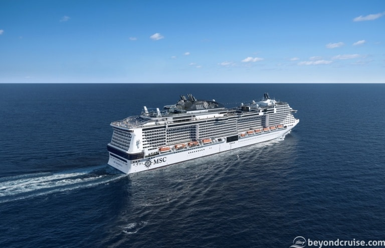 All of the MSC Cruises ships still to come!