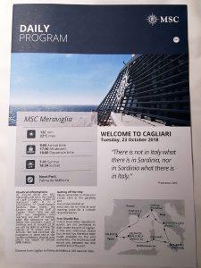 Daily Program cover for Cagliari