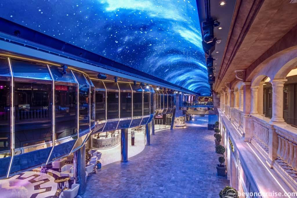 MSC Meraviglia indoor promenade