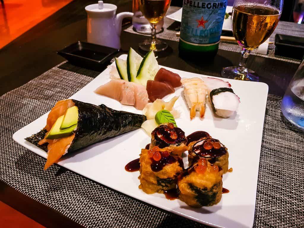 MSC Meraviglia - Kaito Sushi Restaurant main course