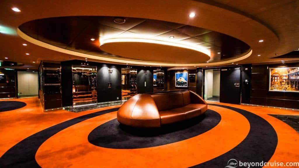 MSC Meraviglia lift lobby