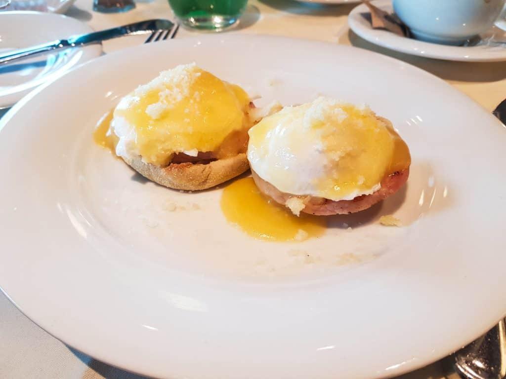 MSC Meraviglia Waves Main Dining Room Eggs Benedict