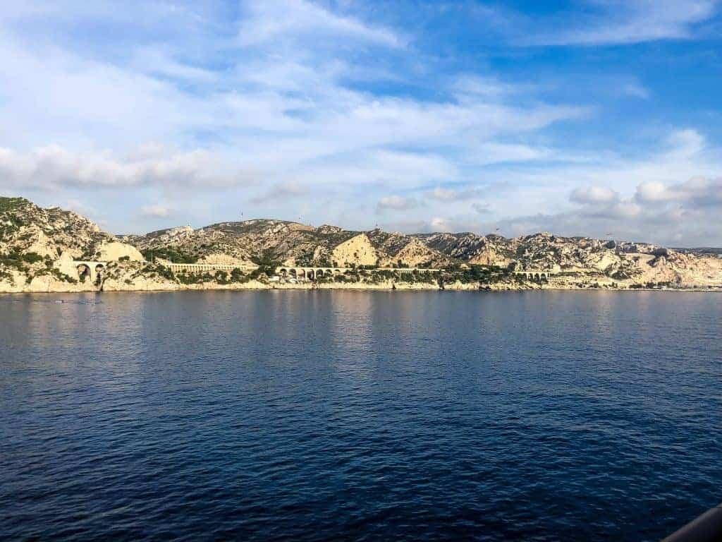 Marseille coastline