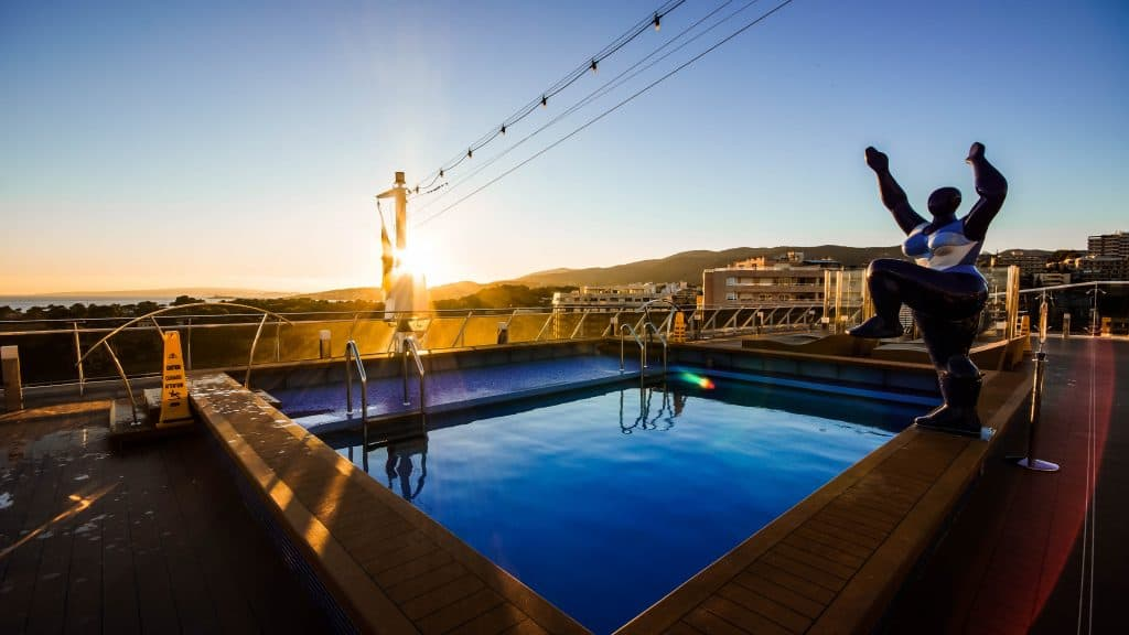 Palma de Mallorca Sunset over Horizon Pool