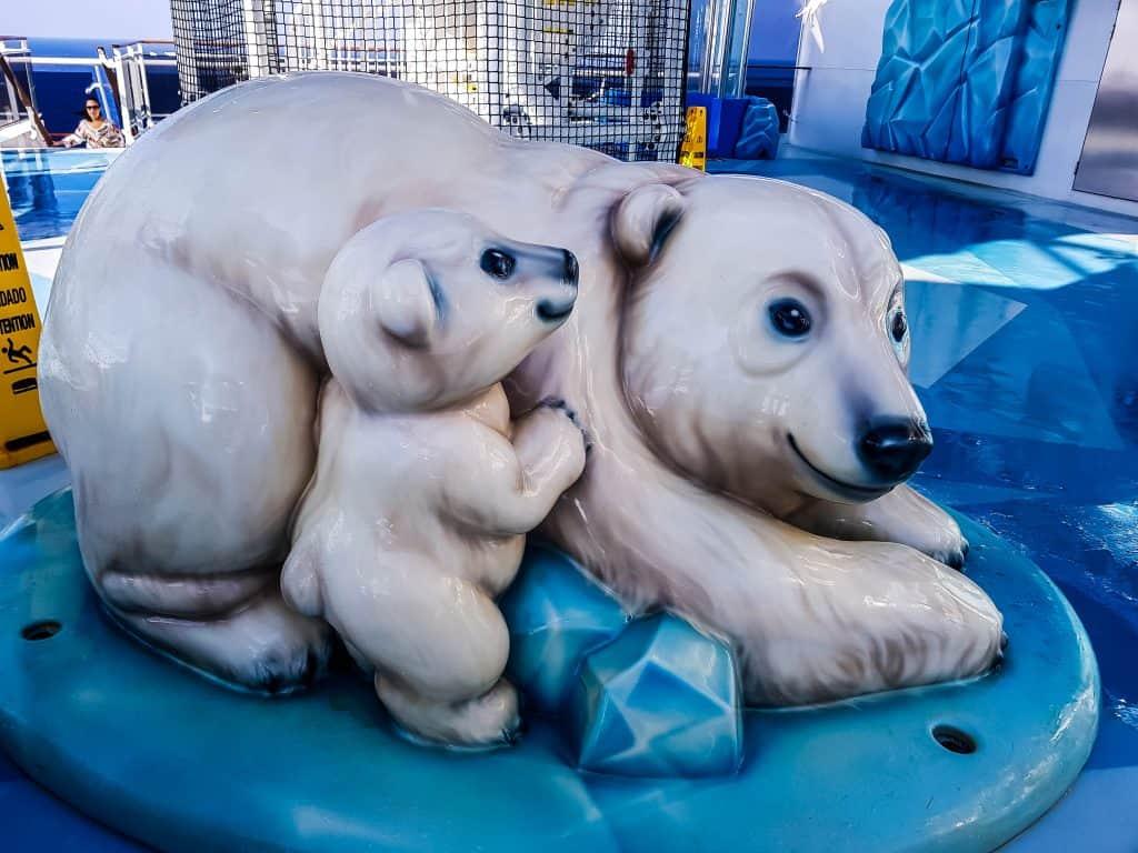 MSC Meraviglia Polar Aquapark Mascots