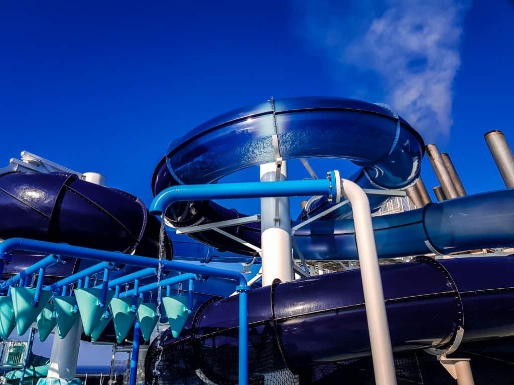 MSC Meraviglia Polar Aquapark Waterslides