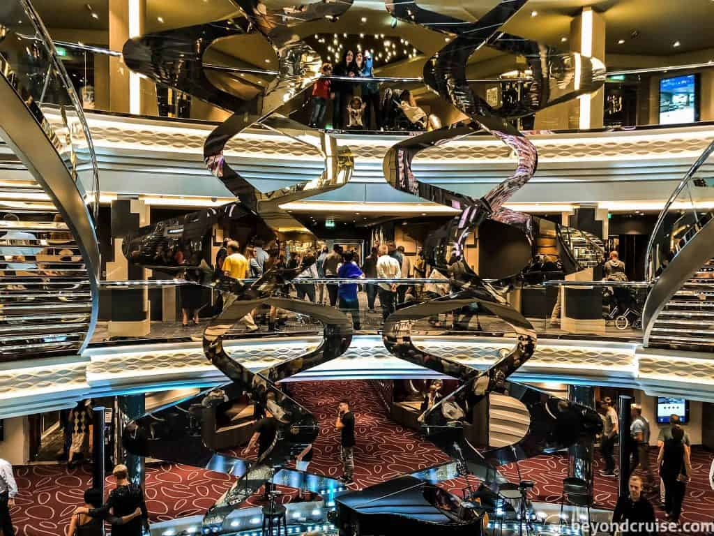 View into the Infinity Atrium from Deck 6