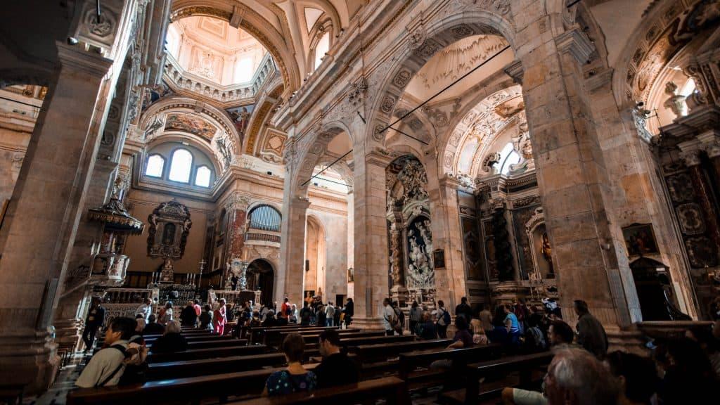 Inside Cagliari Cathedral