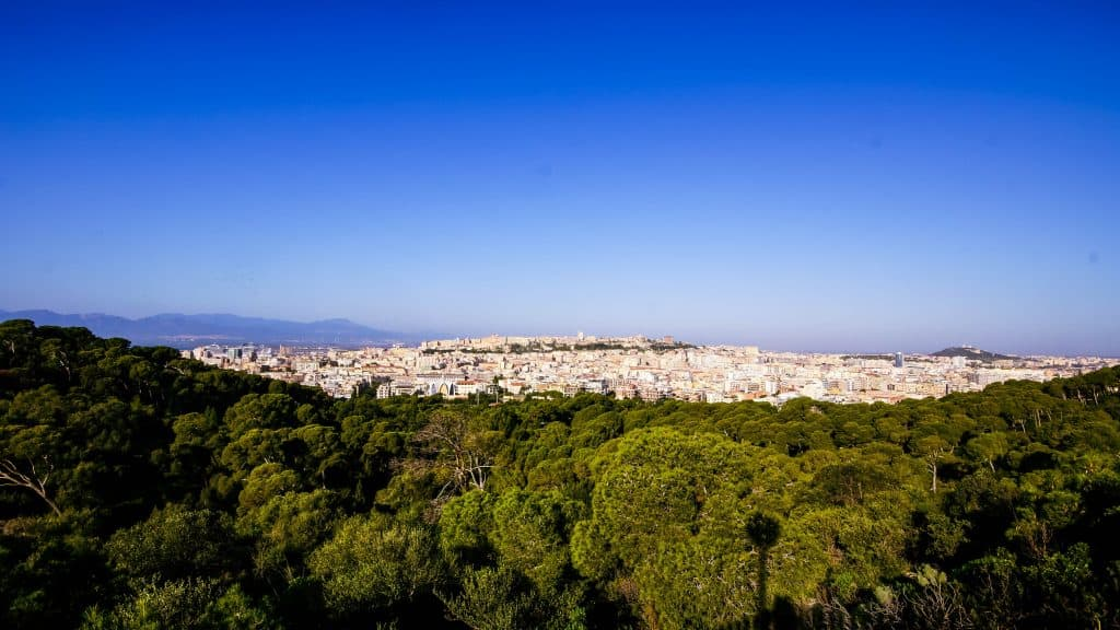View of Cagliari Old Town