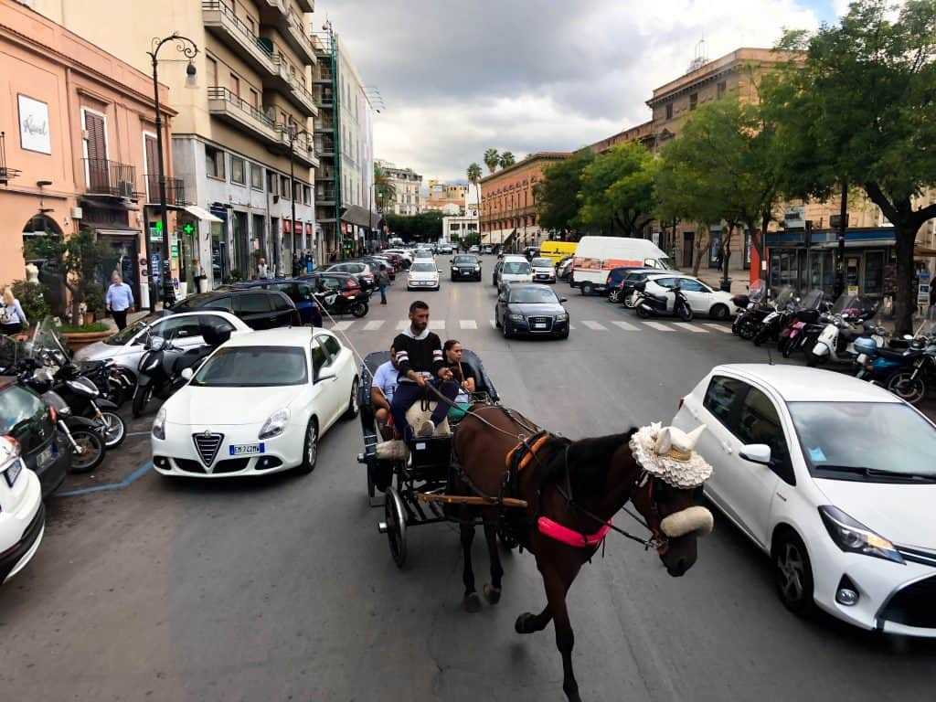 Palermo horse and cart transport