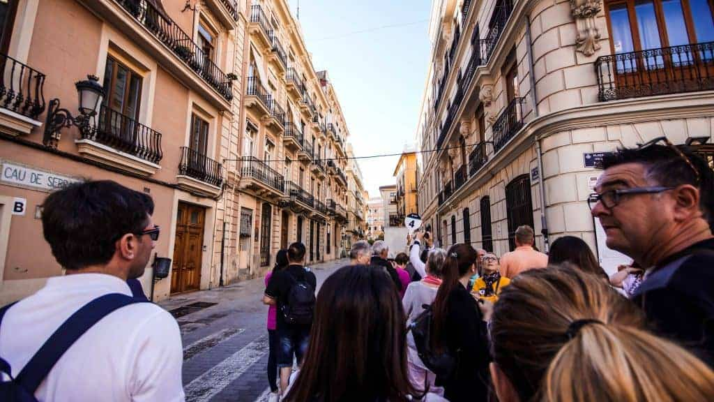 Our guide walks us through the streets