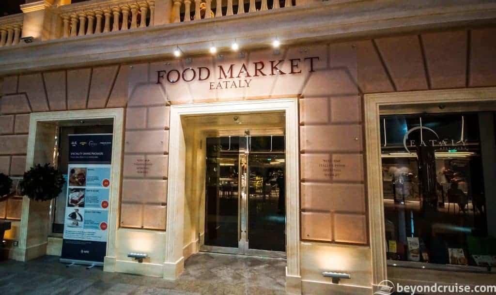 MSC Meraviglia Eataly Food Market