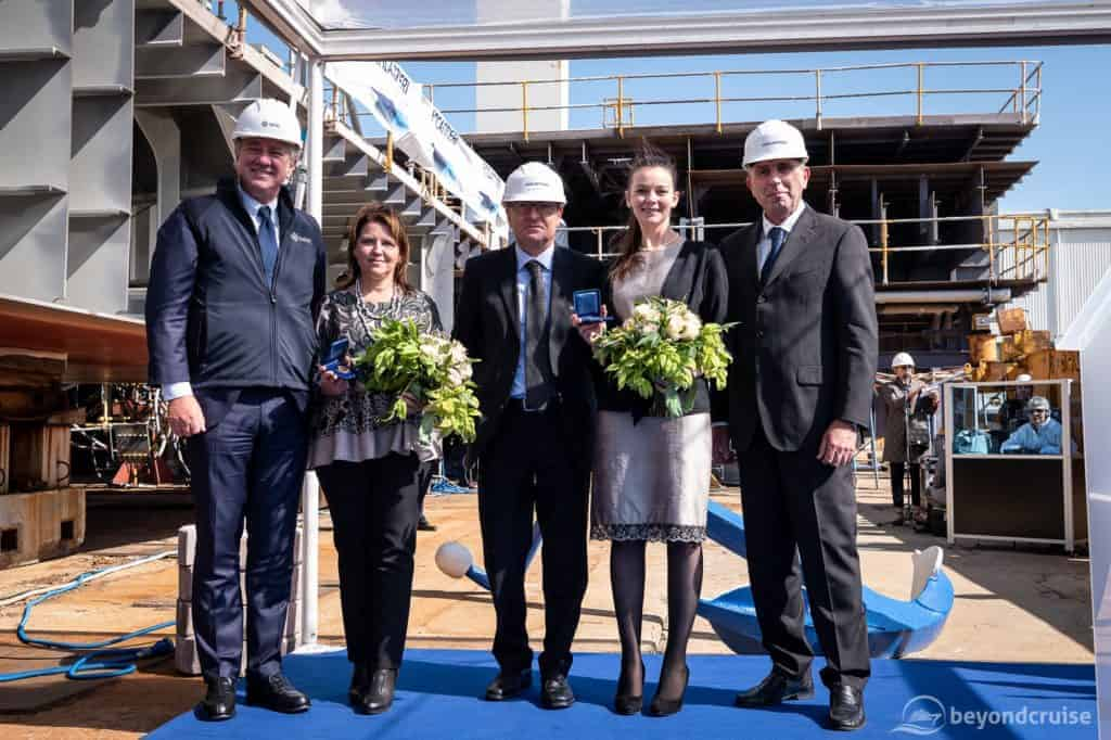 MSC Seashore Keel-laying and coin ceremony