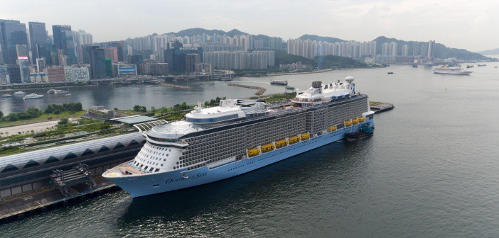Ovation of the Seas arrives in Hong King, China