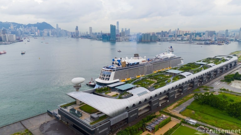 Ovation of the Seas arrives in Hong Kong