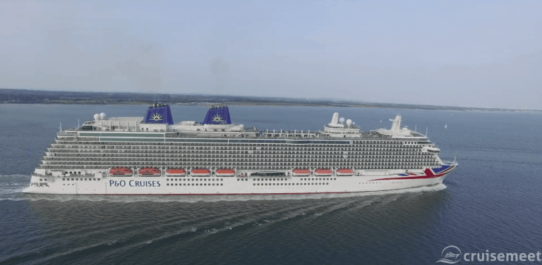 Amazing cruise ship drone footage