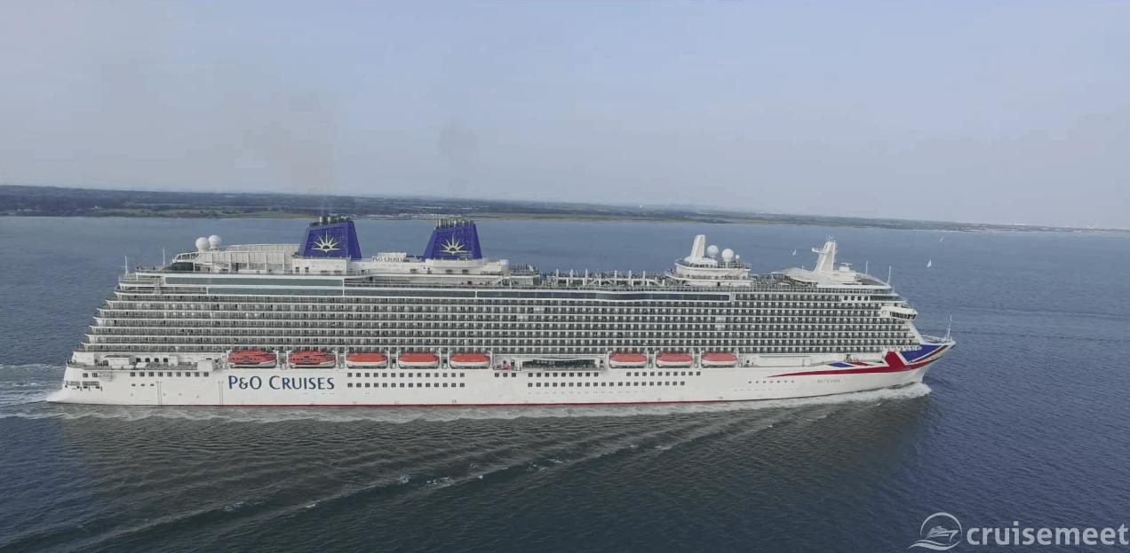 P&O Britannia sails out of Southampton