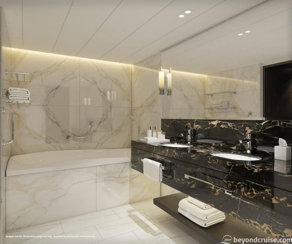 Aft Suite Bathroom, P&O Iona