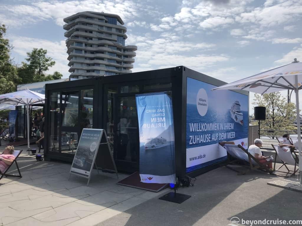 Port of Hamburg 829th anniversary AIDAcruises popup stand