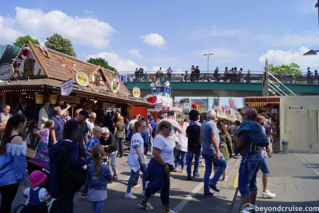 Port of Hamburg 829th Anniversary - Crowds walk amongst popup street stalls and entertainment