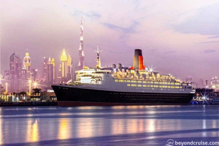 QE2 finally opens as a floating hotel in Dubai